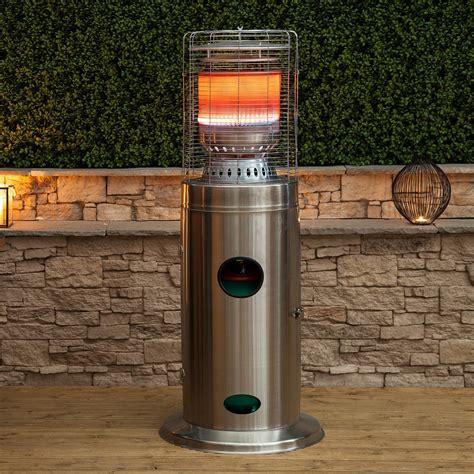 bullet stainless steel floor standing gas patio heater