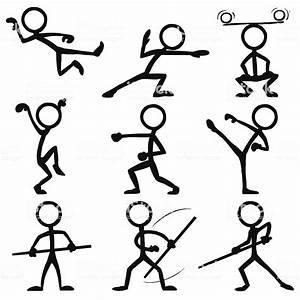 Stick Figure People Kungfu Stock Vector Art  U0026 More Images