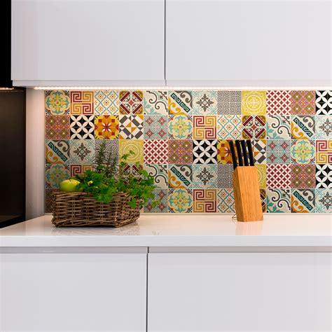 stickers carrelages azulejos mosaique multicolore