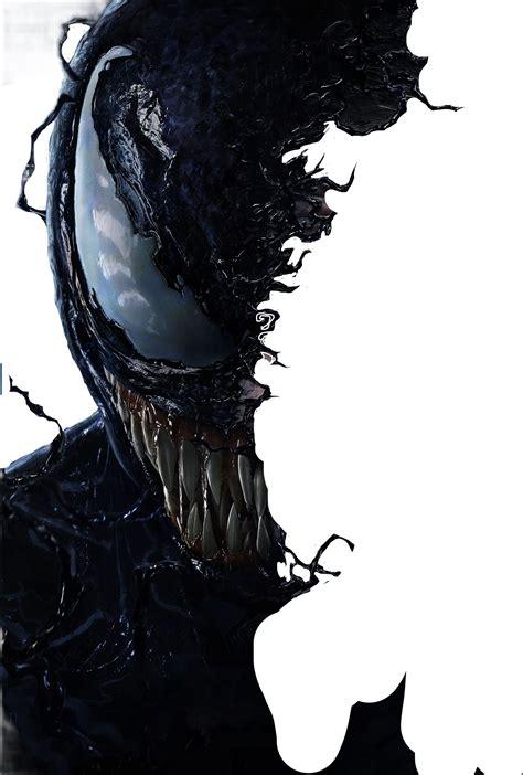 venom spiderman halfmask darkness scary halloween freet