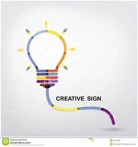 Creative Light Bulb Idea Concept Background Stock Vector