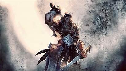 Warcraft Sword Wallpapers Games Desktop Cool Qhd