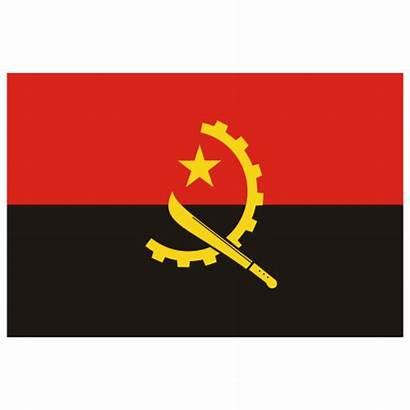 Angola Flag Round Ao Bandera Icon Glossy