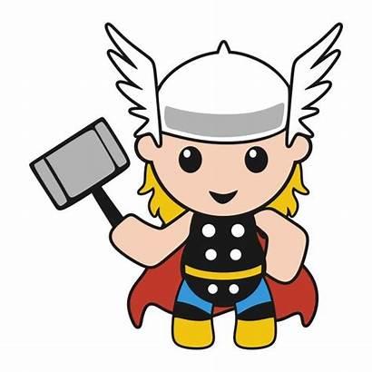 Thor Superhero Clipart Svg Cuttable Boy Cartoon