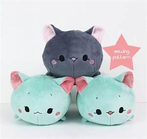 Tsum tsum plush sewing pattern Cat Roll stuffed by ...