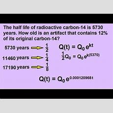 Algebra  Exponential Growth And Decay Word Problems (7 Of 7) Radioactive Decay Youtube