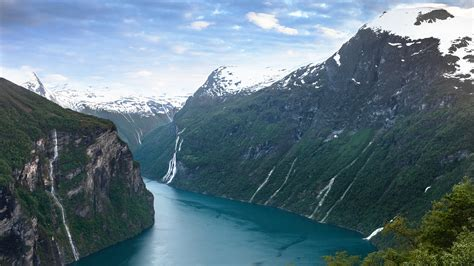 Mountains Landscapes Nature Norway Rivers Fjord Wallpaper