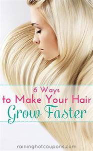 6 Ways To Make Your Hair Grow Faster DIY Craft Projects