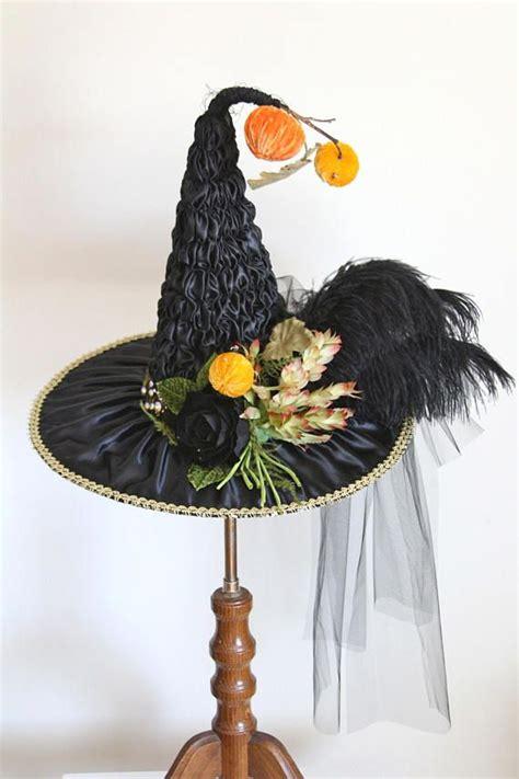 black satin heirloom victorian witch hat  studio sisu