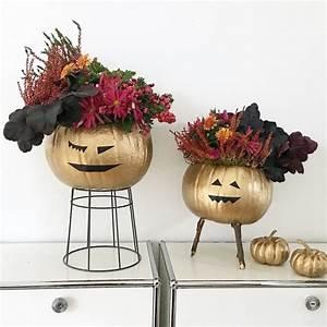 Kürbis Deko Draußen : do it yourself goldene halloween deko sophiagaleria ~ Markanthonyermac.com Haus und Dekorationen