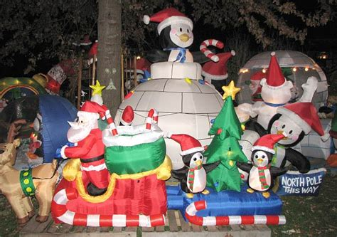paulies penguin playground christmas display  olathe