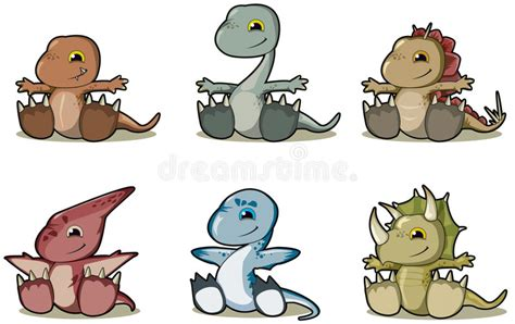 Baby Dinosaurs Stock Vector. Illustration Of Dinosauro