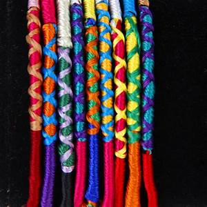9 Colorful Thread Friendship Bracelets Woven Hippie N3