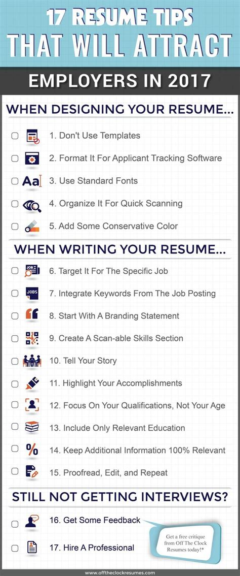 Resume Tips Skills by 17 Resume Tips That Will Attract Employers In 2017