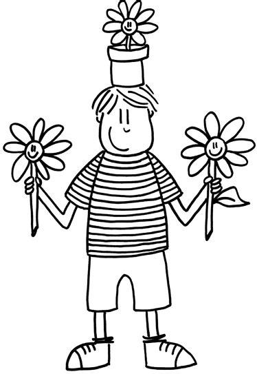 Sticker enfant pot de fleurs - TenStickers