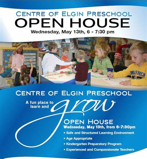 centre of elgin recreation facility fitness and 421 | Preschool Open House May 21