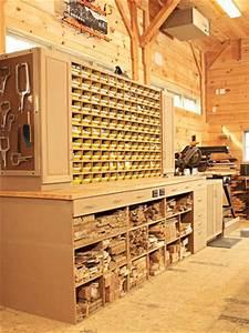 Space-saving hardware bin storage