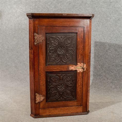 Cupboard Antique by Antique Oak Carved Corner Cabinet Cupboard Arts Crafts