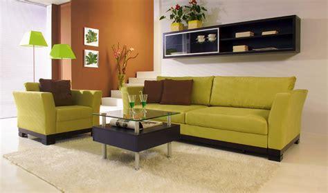 Green Sofa by Contemporary Living Room Design With Green Sofa Noka