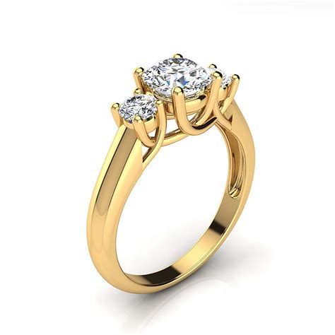3 stone rings past present future diamond engagement ring 1 1ct 18k gold