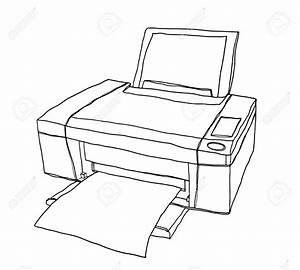 Printer Drawing At Getdrawings