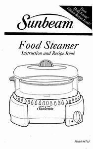 Sunbeam Electric Steamer 4710 User Guide