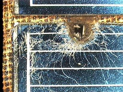 Space Damage Solar Panel Debris Hubble Telescope