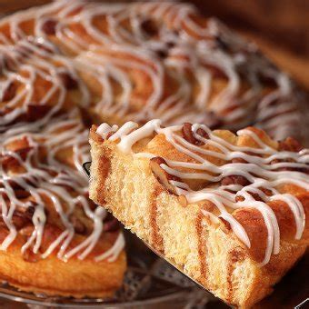He even adds a layer in the middle of the cake! Sara Lee Pecan Coffee Cake recipe Cake Recipes