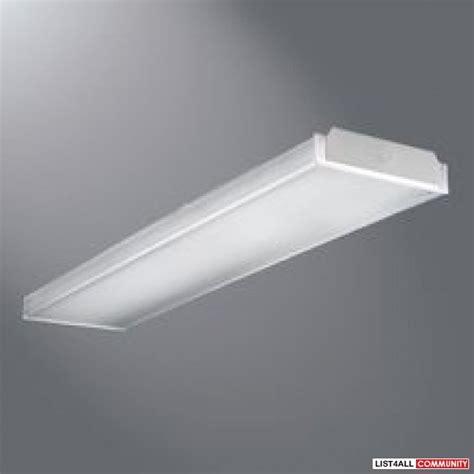 metalux 2ft wrap around fluorescent fixture 347v new