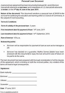 free printable personal loan contract form generic With online loan documents