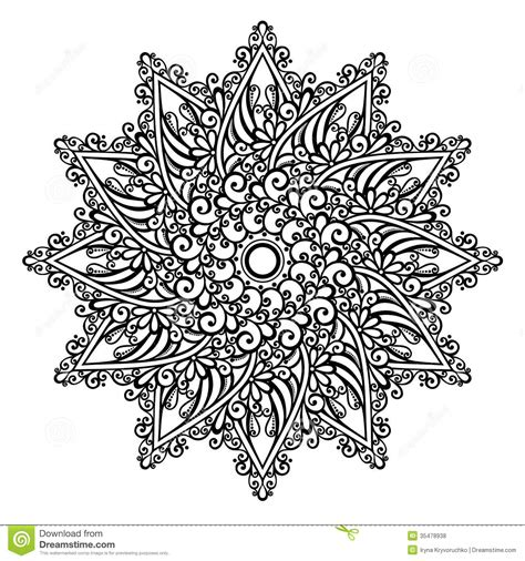mandala designer beautiful deco mandala vector royalty free stock photos image 35478938