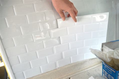 paint   light installing peel  stick tile