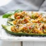 Italian Stuffed Zucchini Boats Nutrition Facts by Curried Cauliflower Quot Rice Quot Pilaf Garlic Zest