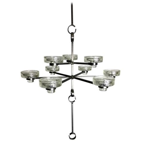 lighting by erik nine light candle chandelier by erik hoglund for boda