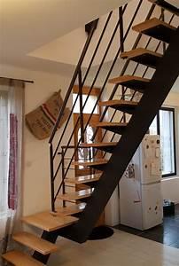 Escalier Fer Et Bois : escalier bois et metal ~ Dailycaller-alerts.com Idées de Décoration
