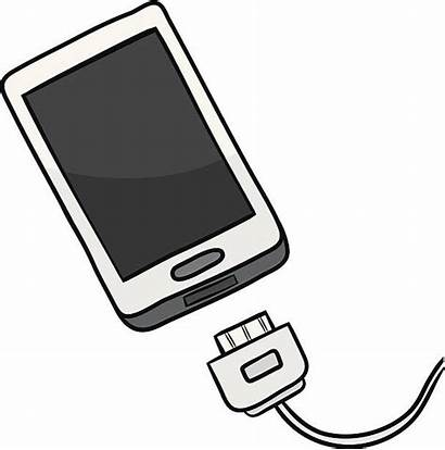 Charger Phone Cell Vector Clip Smart Illustrations