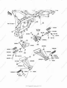 Kawasaki Motorcycle 2012 Oem Parts Diagram For Footrests
