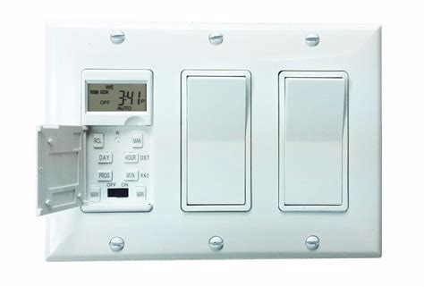 7 day digital programmable timer in wall outlet light