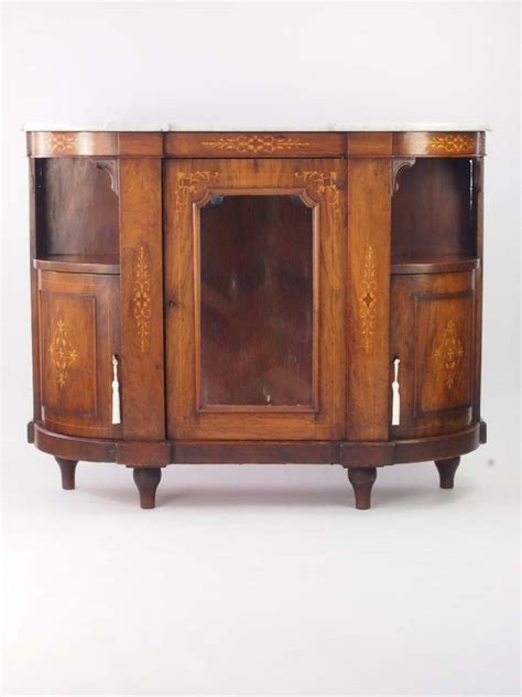 small antique victorian burr walnut credenza sideboard