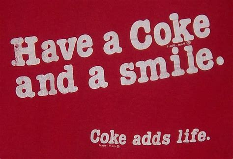 Vintage 80s Have A Coke And A Smile Coca Cola
