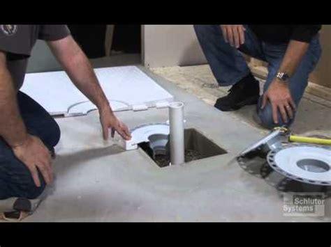 drain pan concrete box out drain preparation