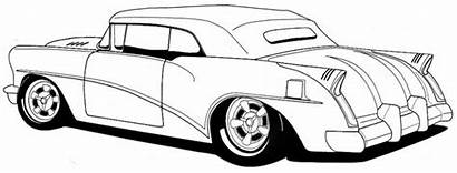 Coloring Cars Classic Muscle Rod Drawing Pages