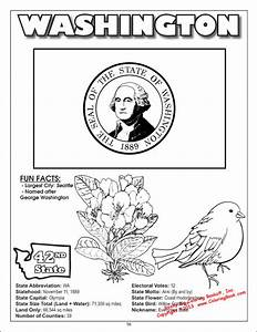 Washington State Flag Coloring Pages Coloring Page