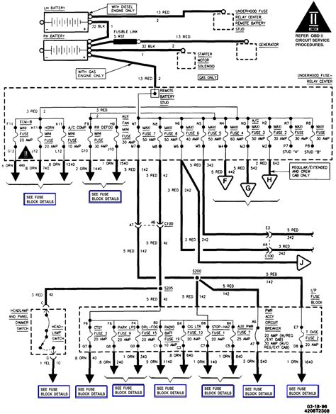 Fuse Diagram 98 Chevy 1500 by I A 96 Chevy P U C 1500 There Is No Electrical