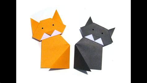 halloween easy origami cat easy tutorial