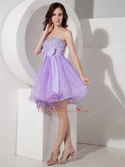 lilac color dress lilac sweet sixteen dress with bowknot design