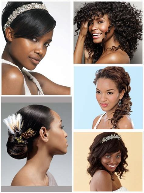 african american brides straight some wedding hair