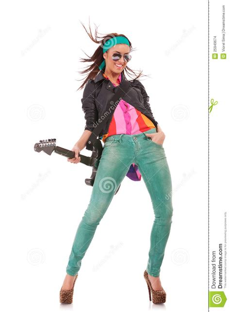 rock  roll girl stock images image