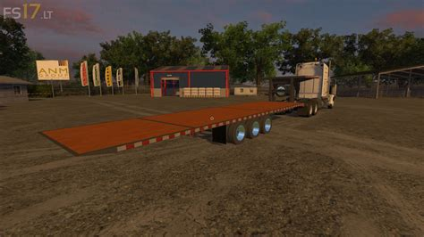 first volvo truck river bend gooseneck trailers pack fs17 mods
