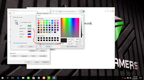 ganti warna background dan text di explorer semua edisi windows